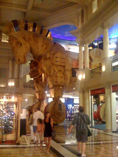 Trojan horse at FAO shwartz at ceasars