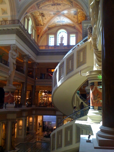 Forum shops entrance at Cesars